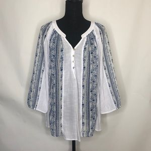 Fig& Flower Anthropologie woman's top